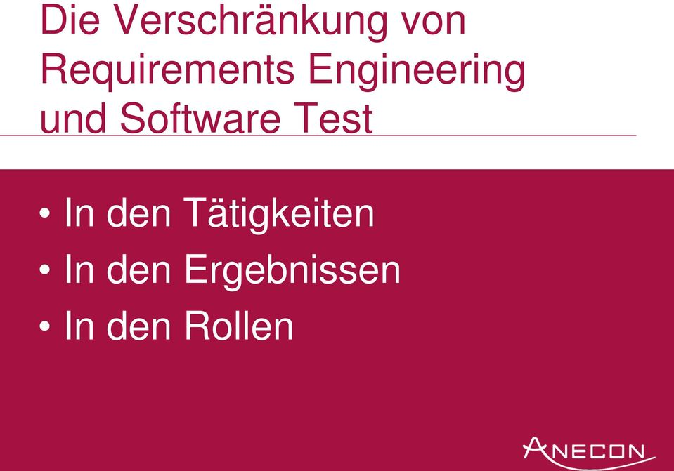 Software Test In den