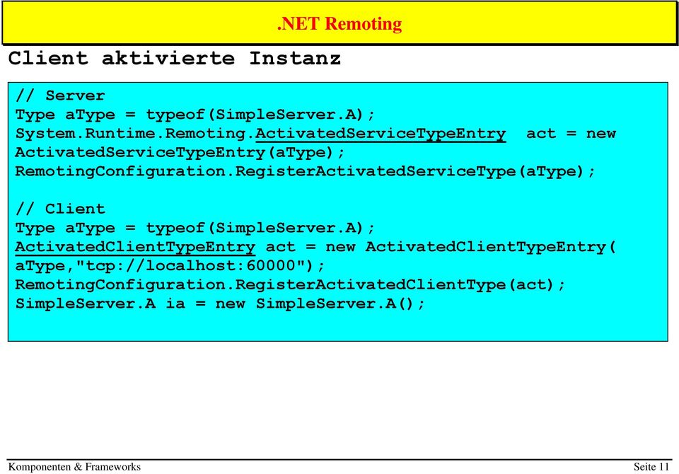 RegisterActivatedServiceType(aType); // Client Type atype = typeof(simpleserver.
