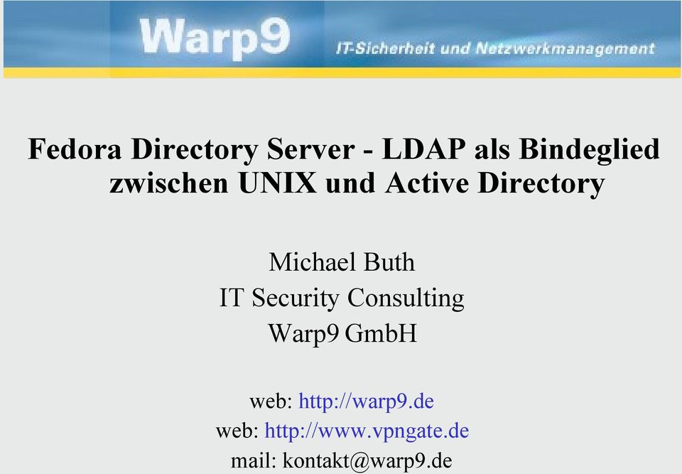 IT Security Consulting Warp9 GmbH web: