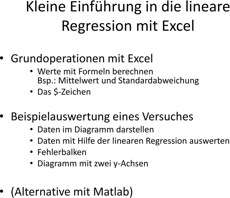 kleine einf hrung in die lineare regression mit excel pdf. Black Bedroom Furniture Sets. Home Design Ideas