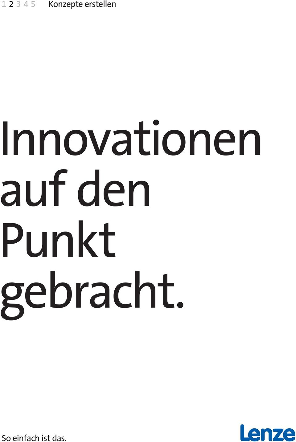 Innovationen auf den