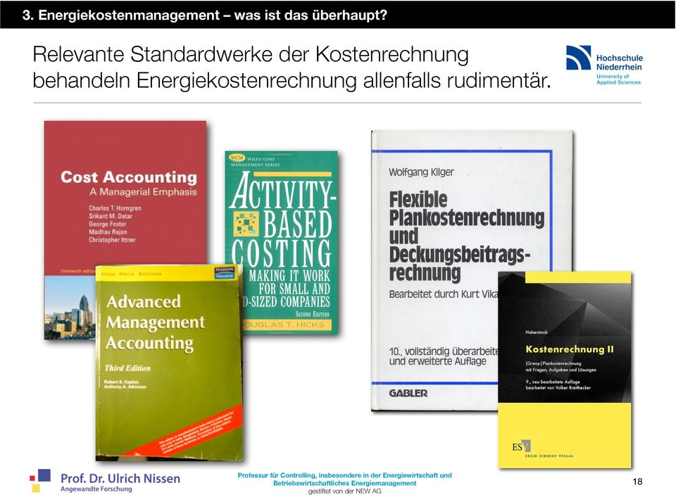 Relevante Standardwerke der