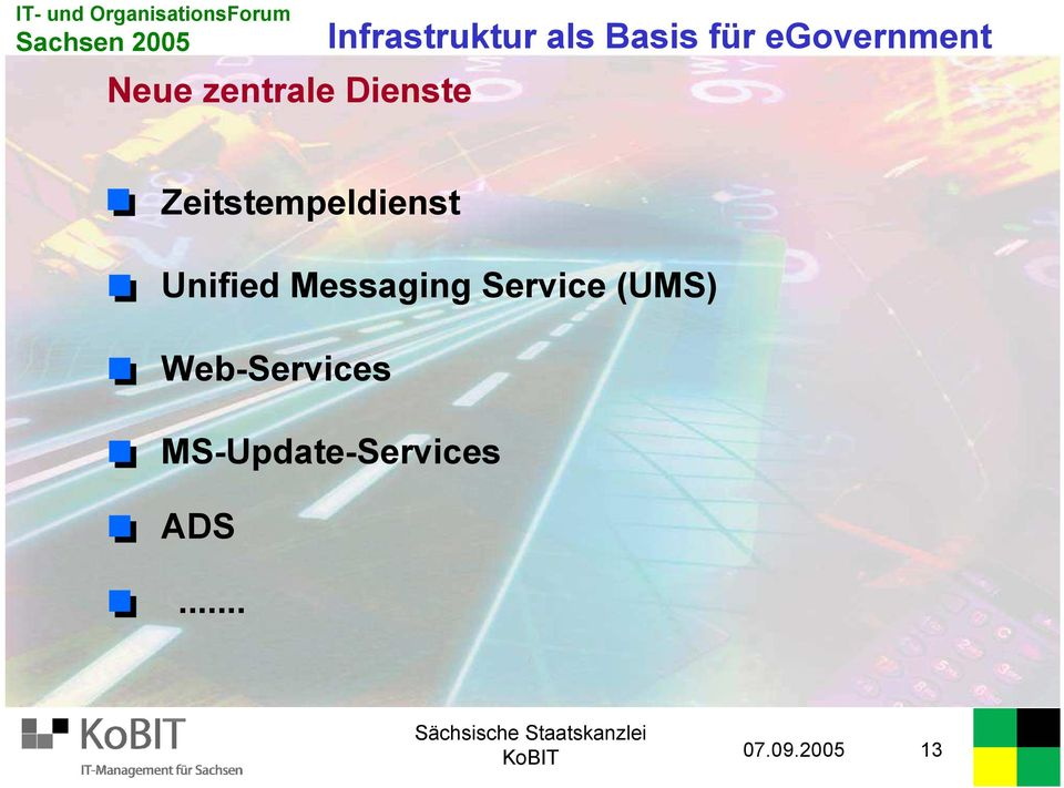 Zeitstempeldienst Unified Messaging