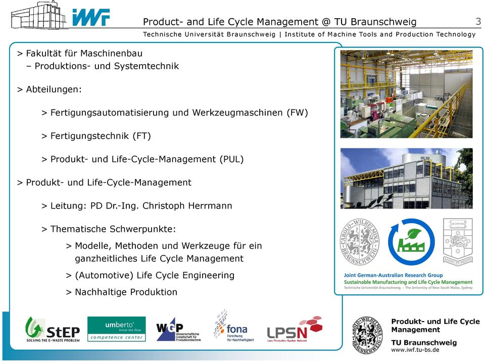 Life-Cycle-Management > Leitung: PD Dr.-Ing.