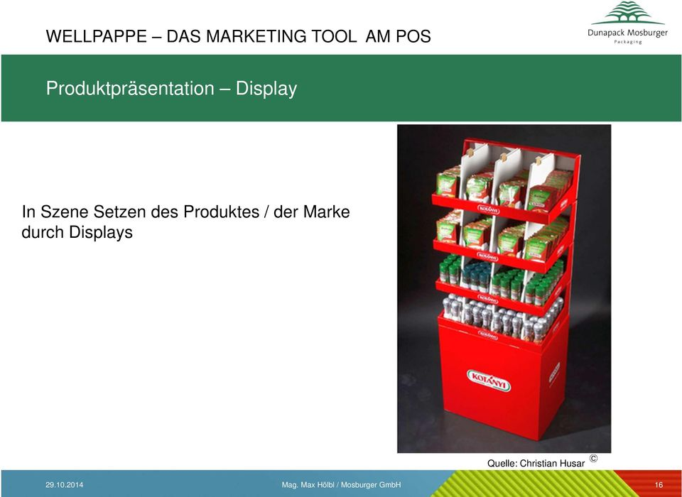 Produktes / der Marke durch Displays Quelle: