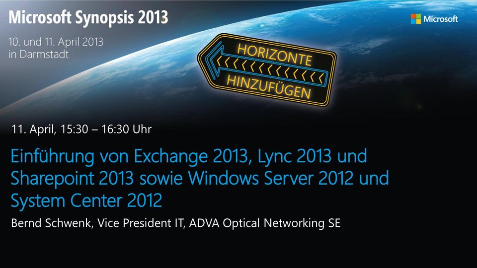 sowie Windows Server 2012 und System Center 2012