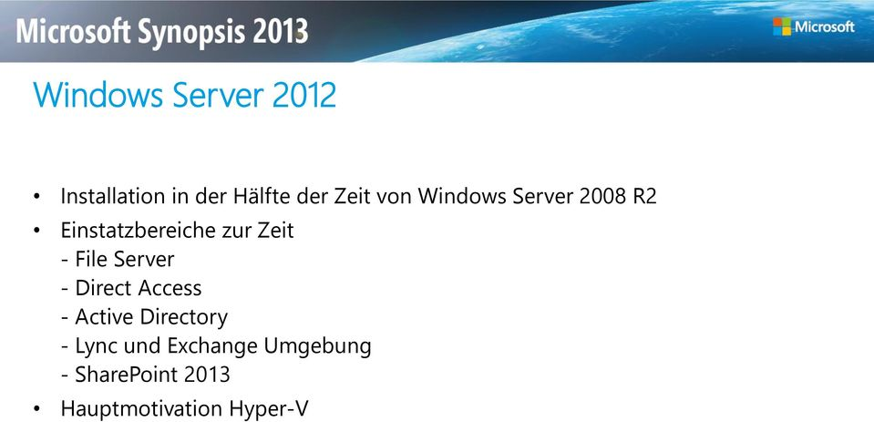 File Server - Direct Access - Active Directory - Lync