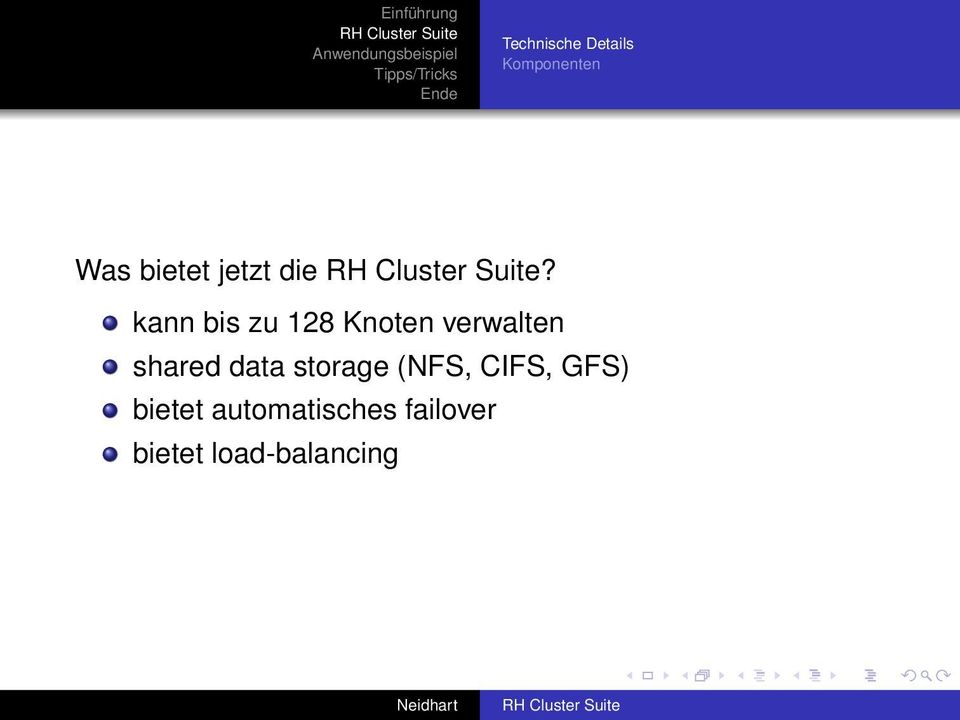 shared data storage (NFS, CIFS,