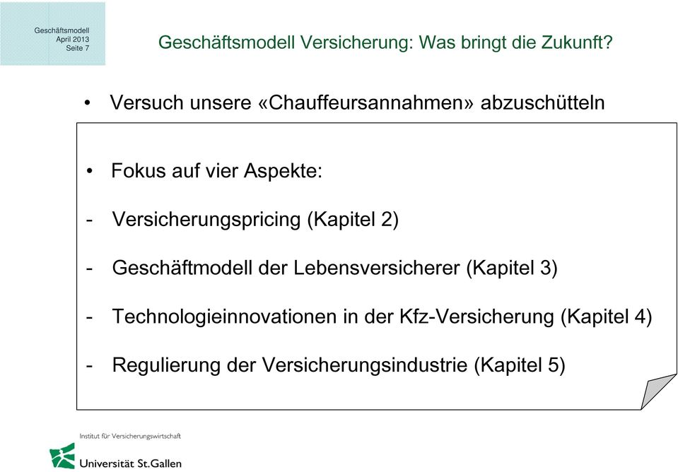 Lebensversicherer (Kapitel 3) - Technologieinnovationen in der