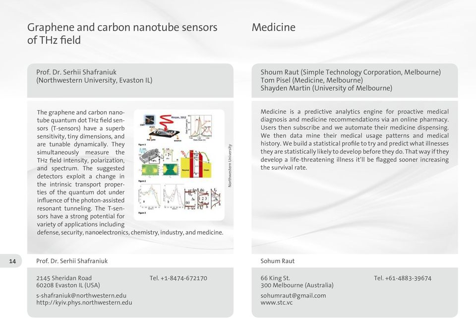 carbon nanotube quantum dot THz field sensors (T-sensors) have a superb sensitivity, tiny dimensions, and are tunable dynamically.