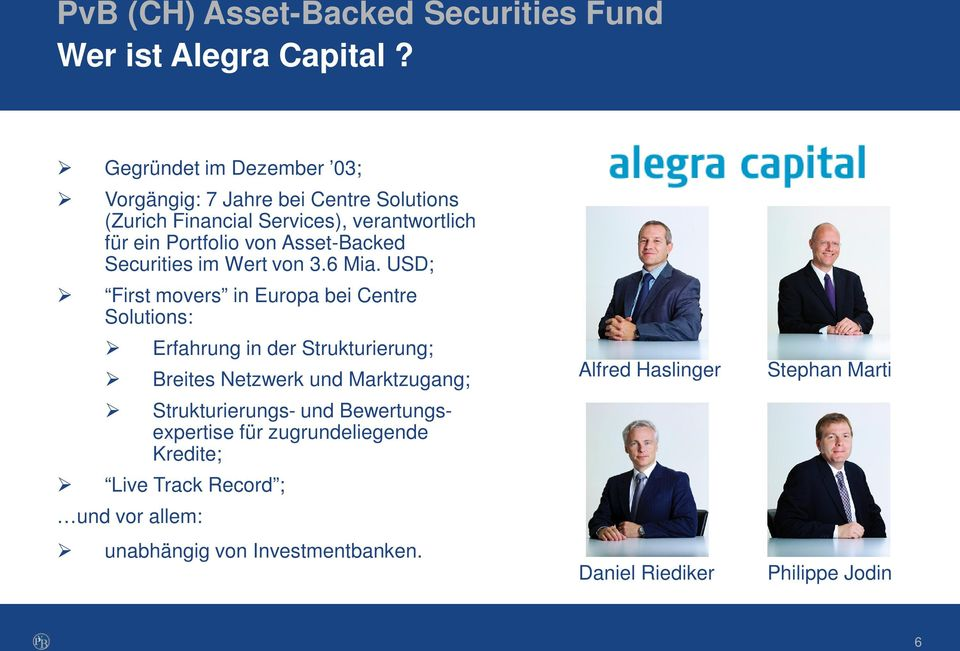 Asset-Backed Securities im Wert von 3.6 Mia.