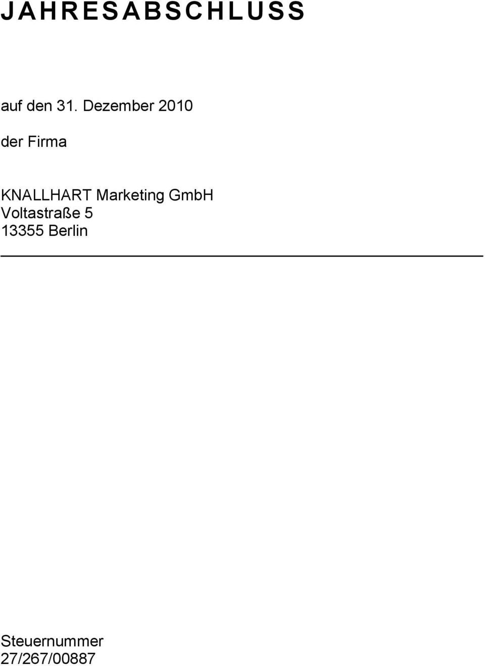 KNALLHART Marketing GmbH