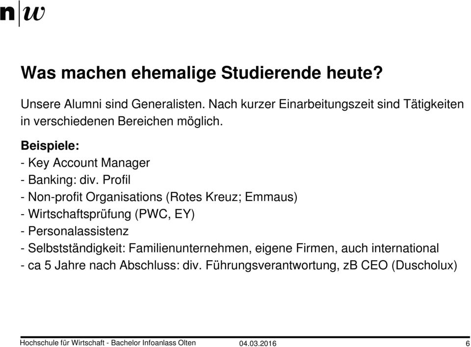 Beispiele: - Key Account Manager - Banking: div.