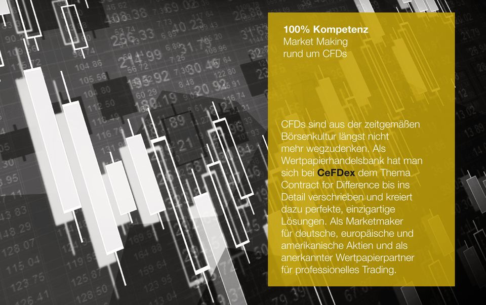 Als Wertpapierhandelsbank hat man sich bei CeFDex dem Thema Contract for Difference bis ins Detail
