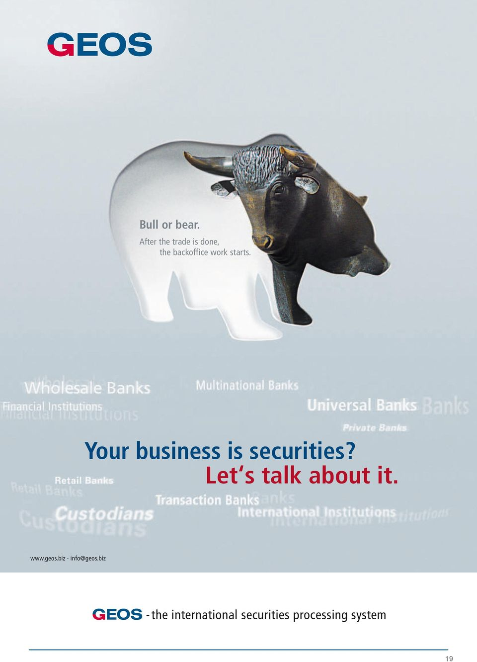 starts. Your business is securities?