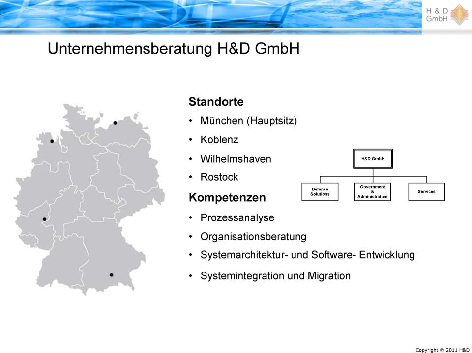 Organisationsberatung Defence Solutions H&D GmbH Government &