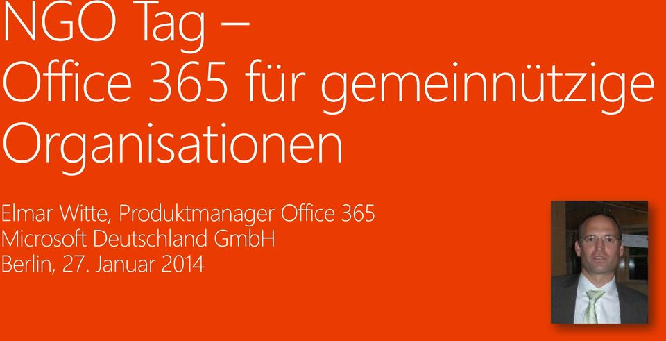 Witte, Produktmanager Office 365