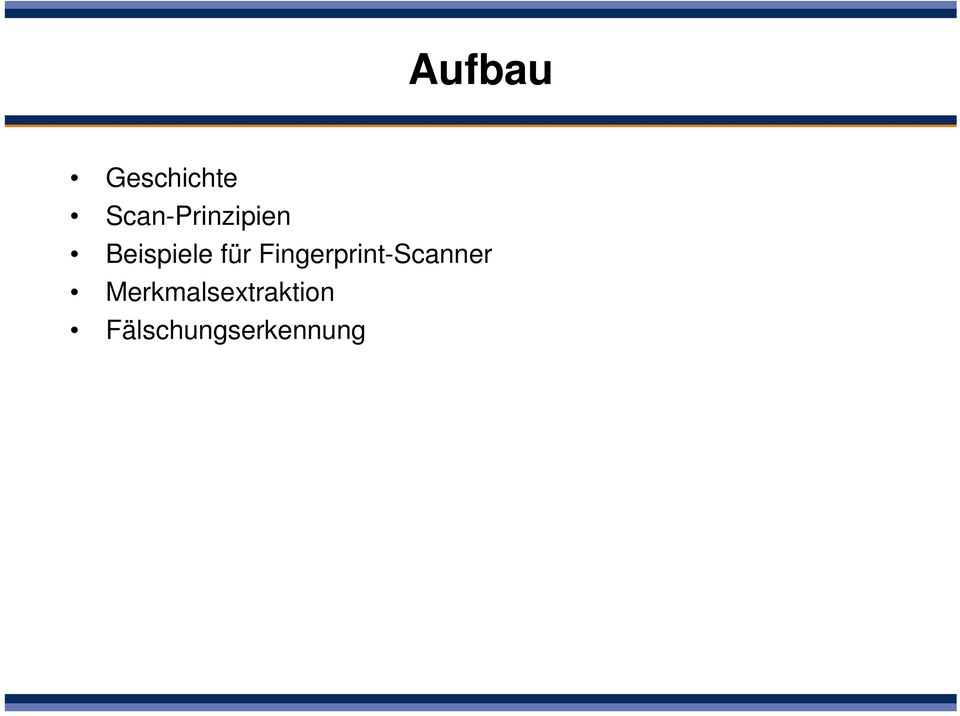 für Fingerprint-Scanner