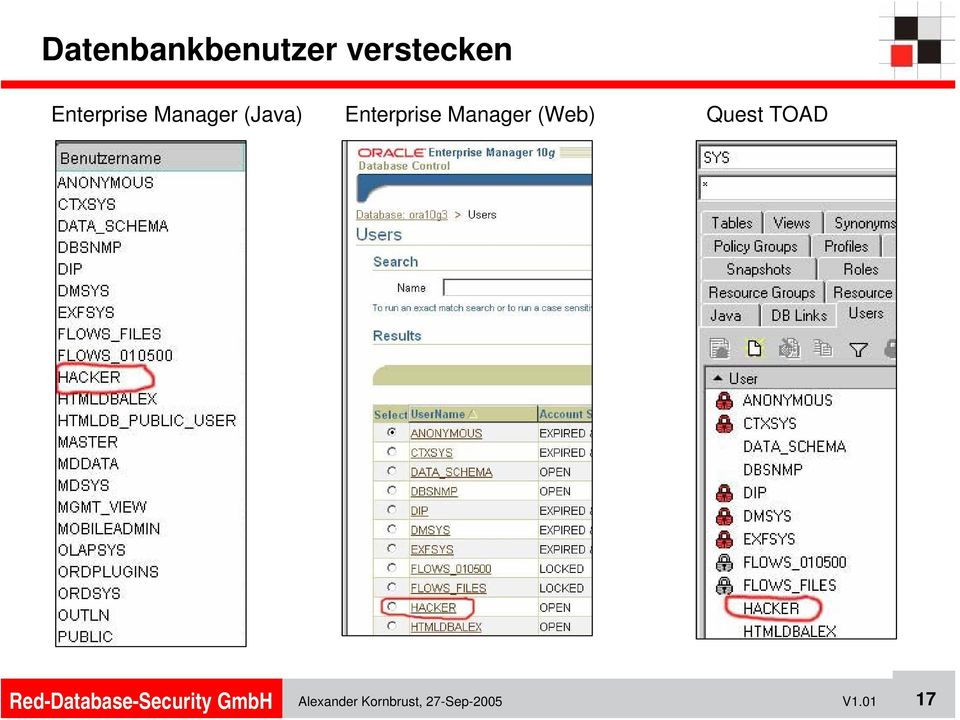 Enterprise Manager (Web) Quest