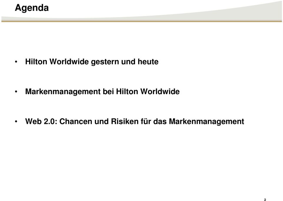 Hilton Worldwide Web 2.