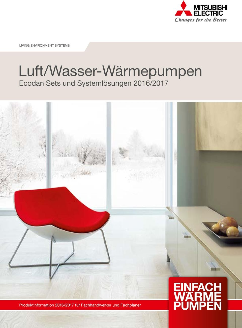 luft wasser w rmepumpen ecodan sets und systeml sungen 2016 pdf. Black Bedroom Furniture Sets. Home Design Ideas