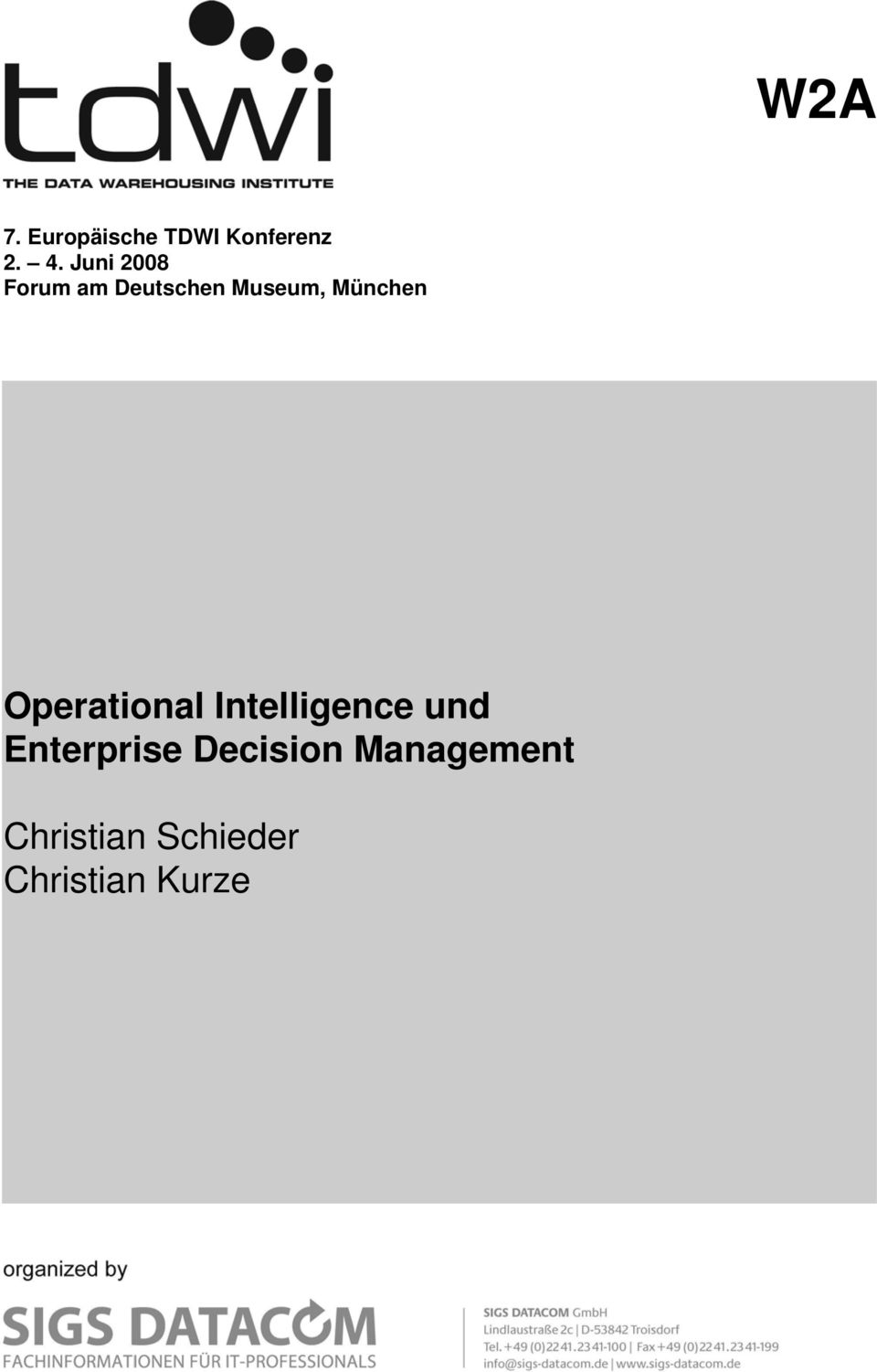 Operational Intelligence und Enterprise