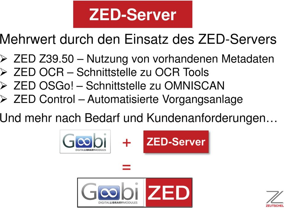 OCR Tools ZED OSGo!