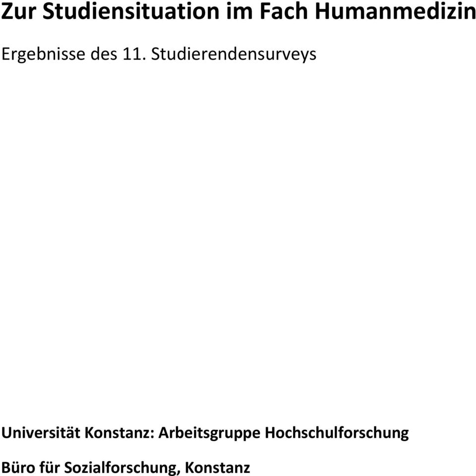 Studierendensurveys Universität Konstanz: