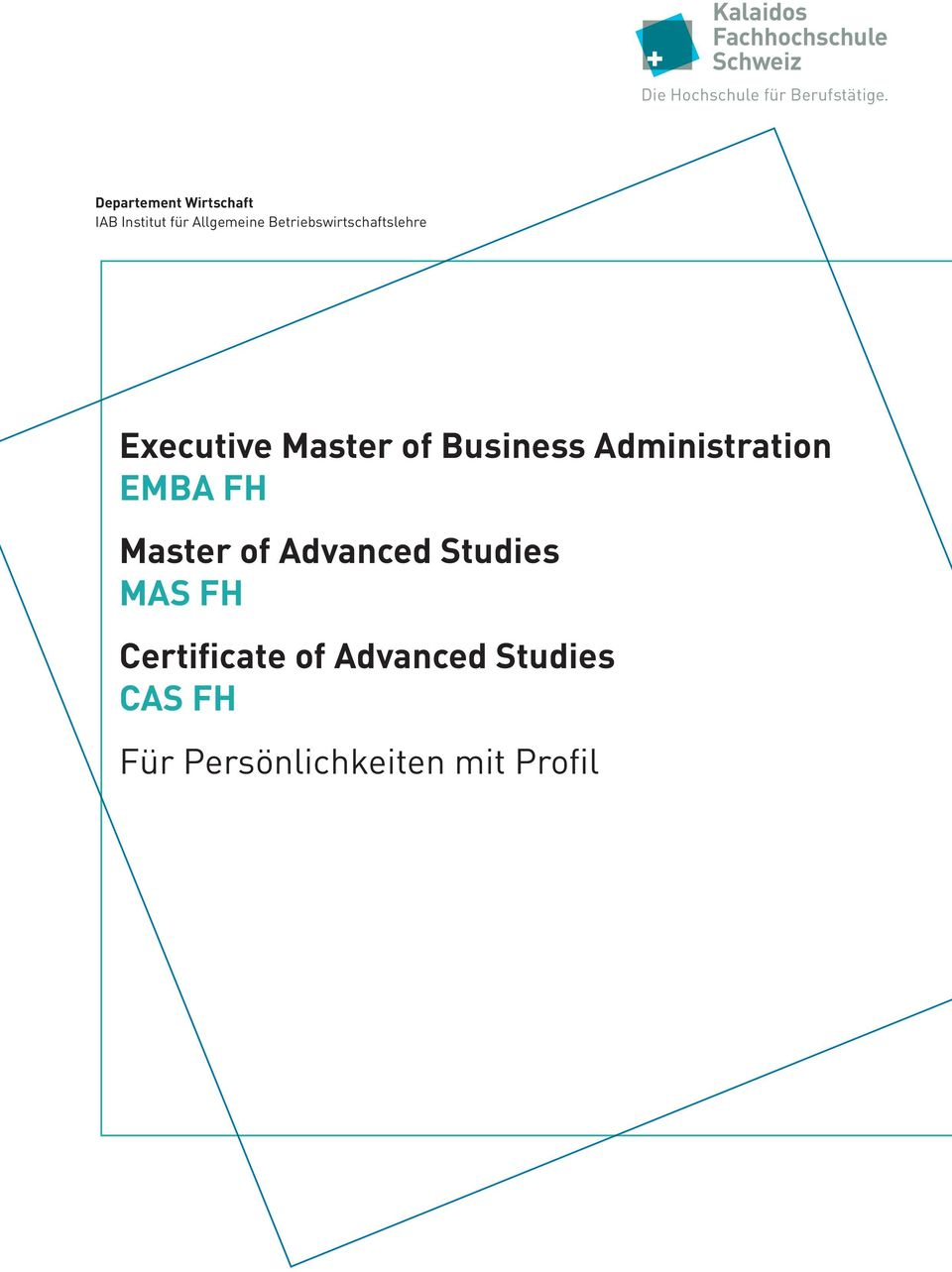 Betriebswirtschaftslehre Executive Master of Business Administration EMBA