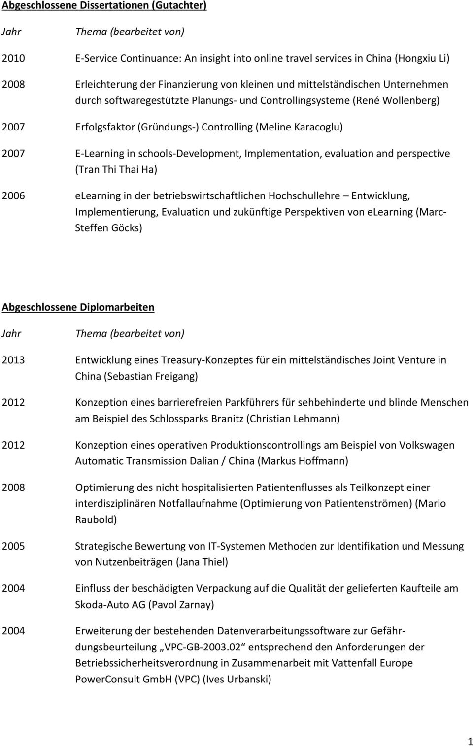 schools-development, Implementation, evaluation and perspective (Tran Thi Thai Ha) 2006 elearning in der betriebswirtschaftlichen Hochschullehre Entwicklung, Implementierung, Evaluation und