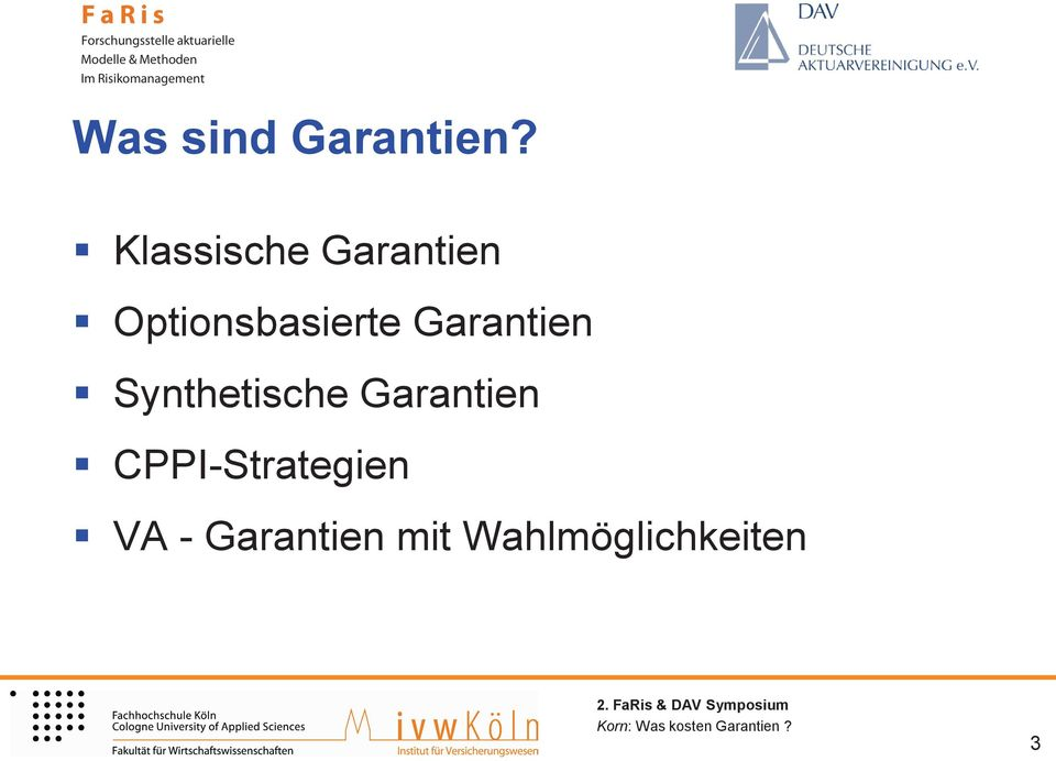 Optionsbasierte Garantien