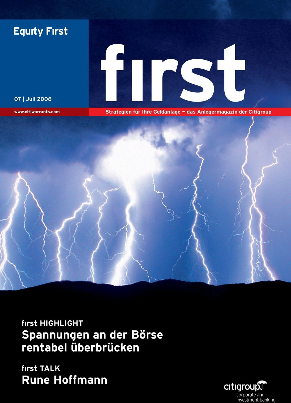 Anlegermagazin der Citigroup fırst HIGHLIGHT