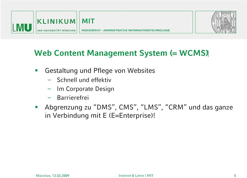 Corporate Design Barrierefrei Abgrenzung zu DMS, CMS,