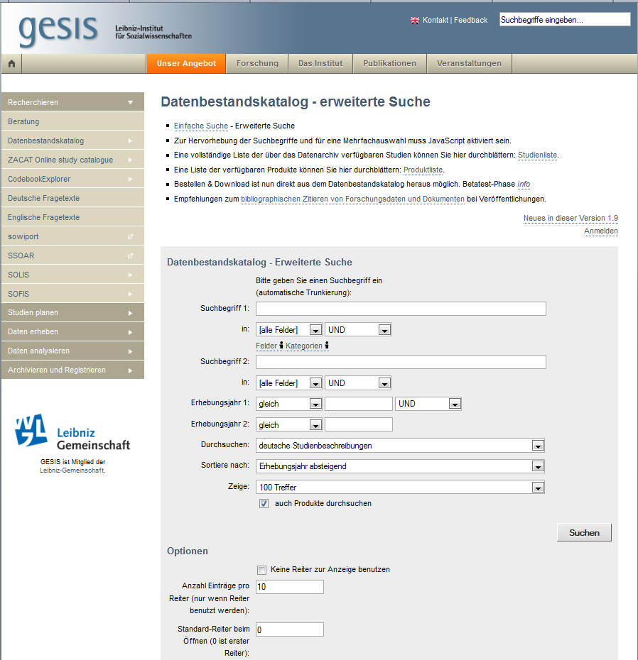 60 GESIS-Working Papers No. 20