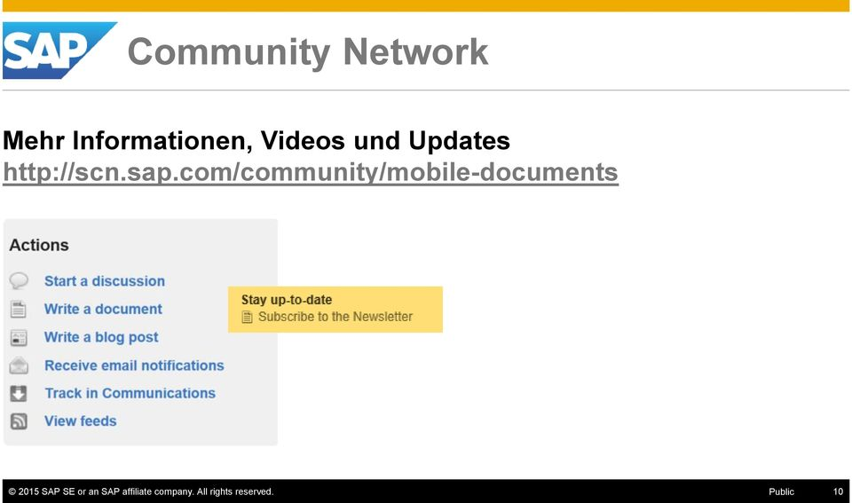 com/community/mobile-documents 2015 SAP SE