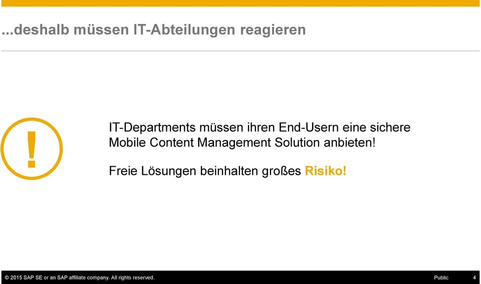 Content Management Solution anbieten!