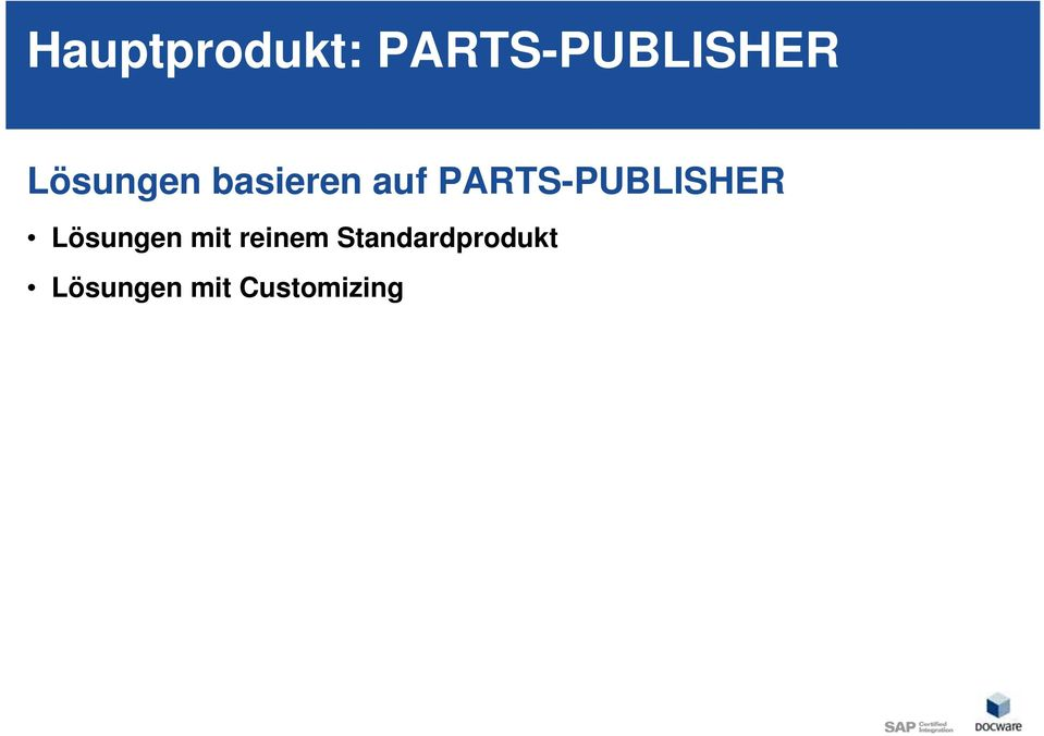 PARTS-PUBLISHER Lösungen mit