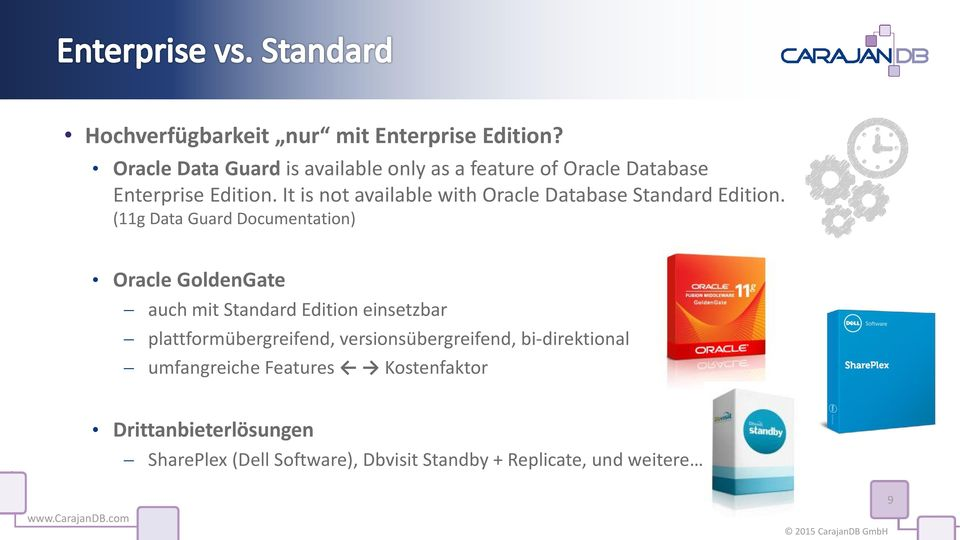 It is not available with Oracle Database Standard Edition.