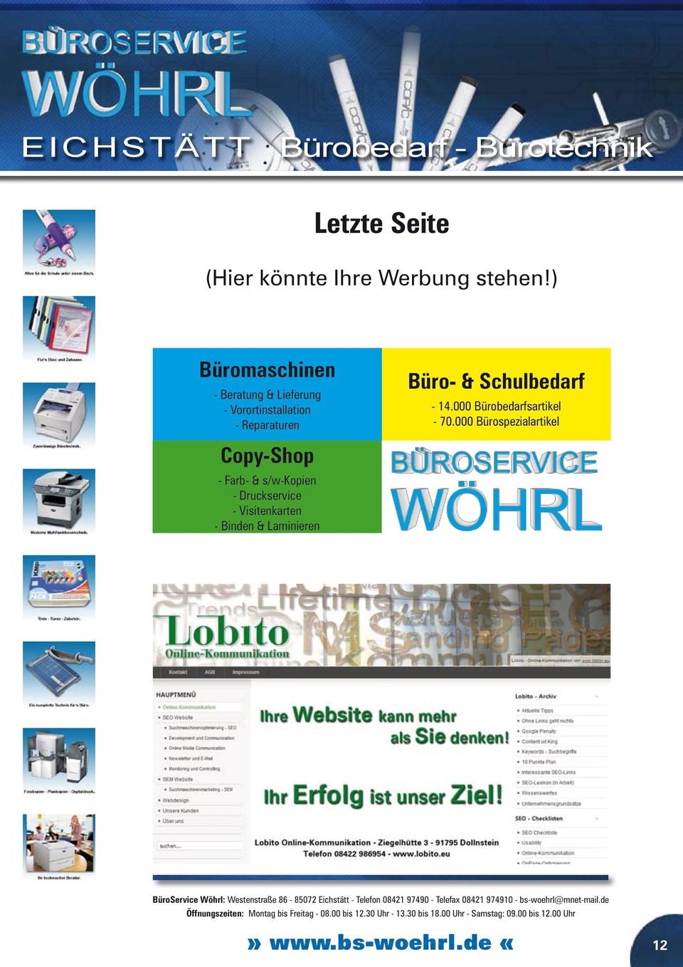 Reparaturen Copy-Shop - Farb- & s/w-kopien - Druckservice -