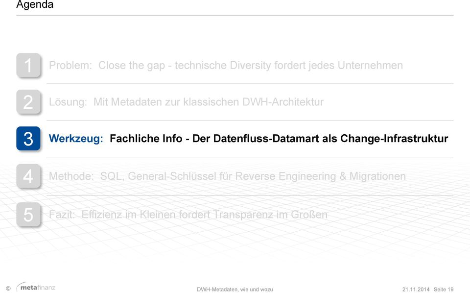 als Change-Infrastruktur Methode: SQL, General-Schlüssel für Reverse Engineering & Migrationen