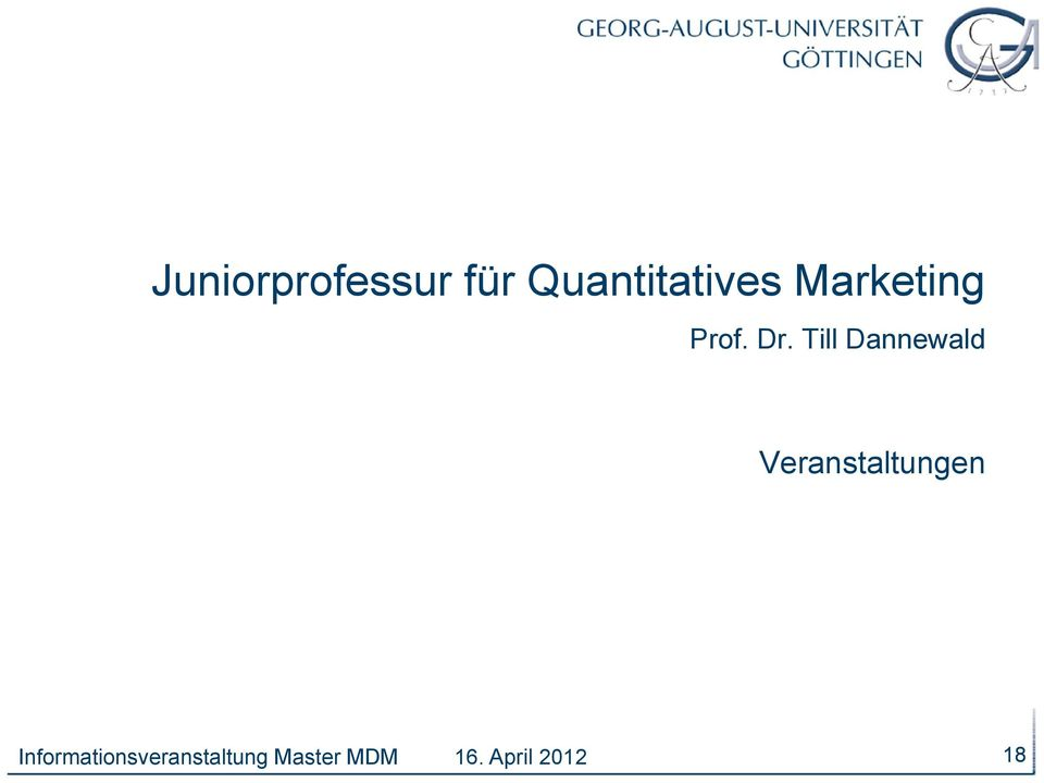 Marketing Prof. Dr.