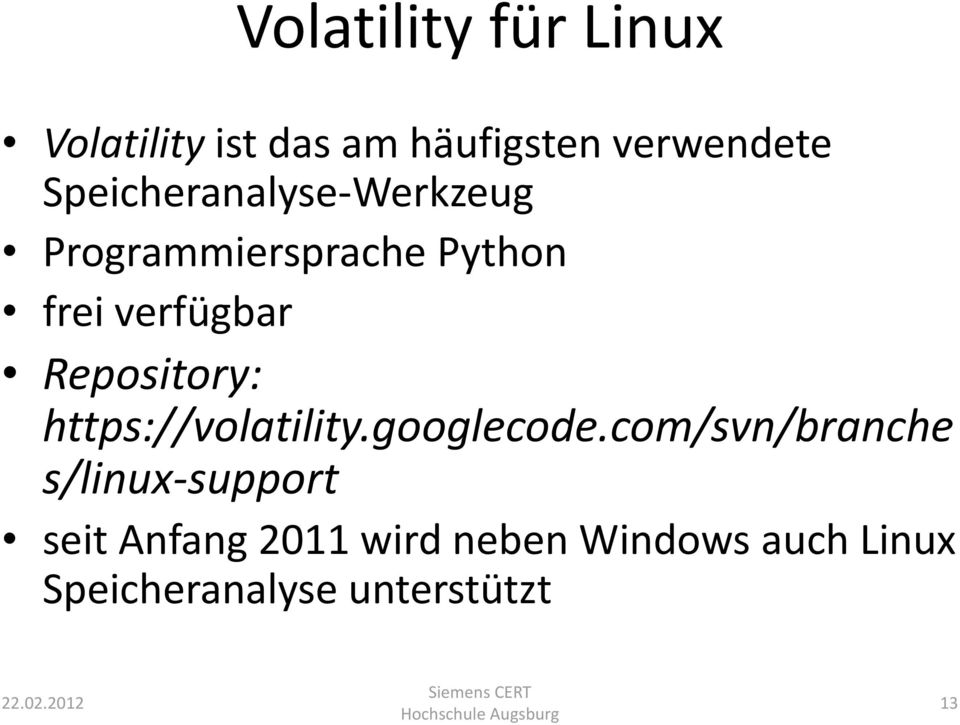 Repository: https://volatility.googlecode.