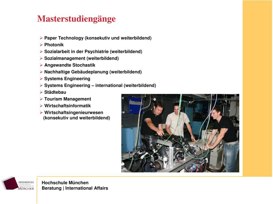 Gebäudeplanung (weiterbildend) Systems Engineering Systems Engineering international
