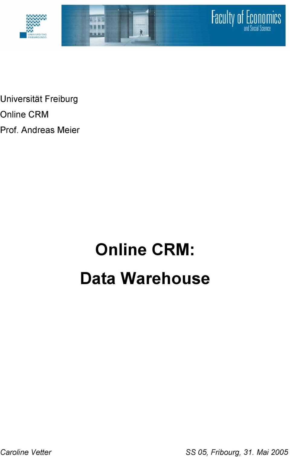 Andreas Meier Online CRM: Data