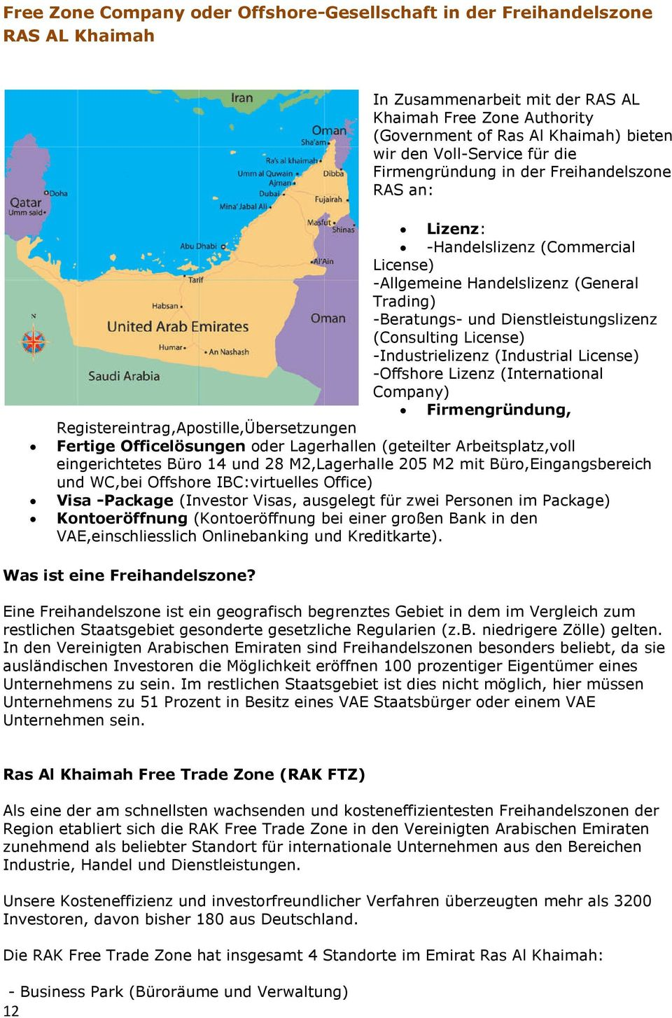 (Consulting License) -Industrielizenz (Industrial License) -Offshore Lizenz (International Company) Firmengründung, Registereintrag,Apostille,Übersetzungen Fertige Officelösungen oder Lagerhallen