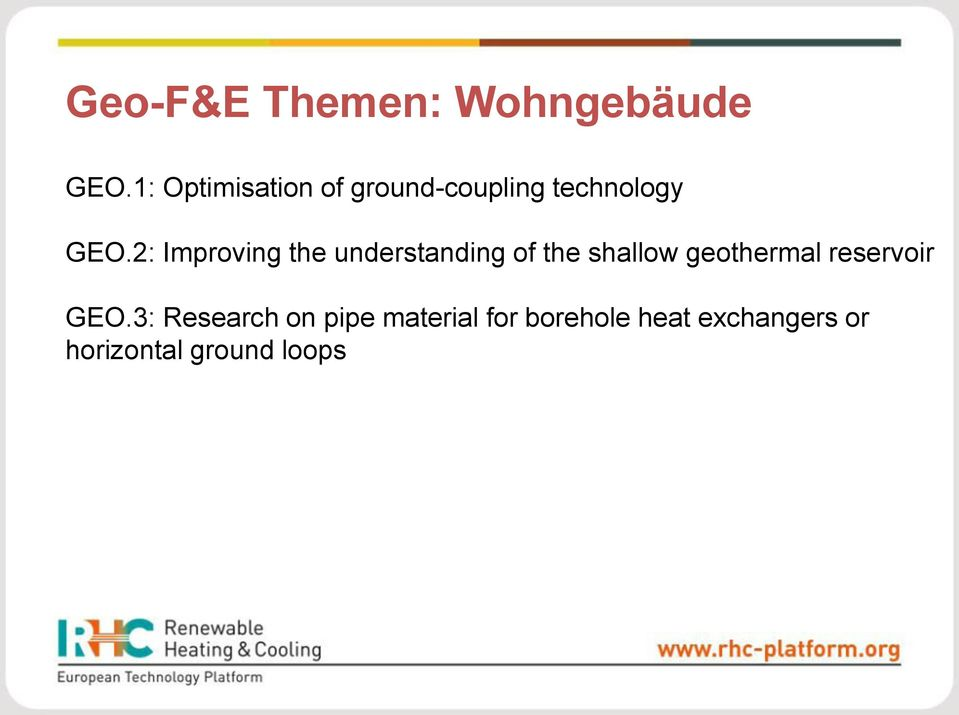 2: Improving the understanding of the shallow geothermal