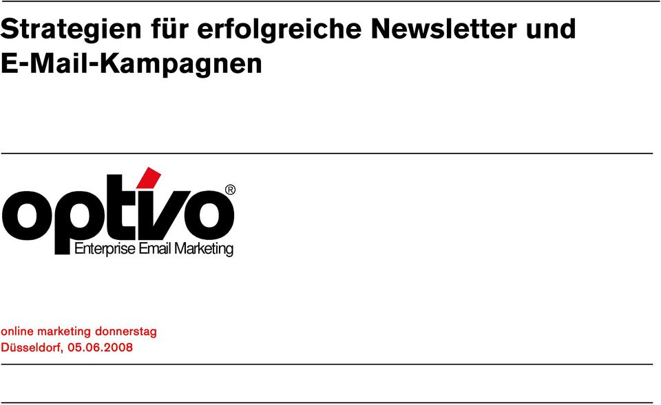 Enterprise Marketing online