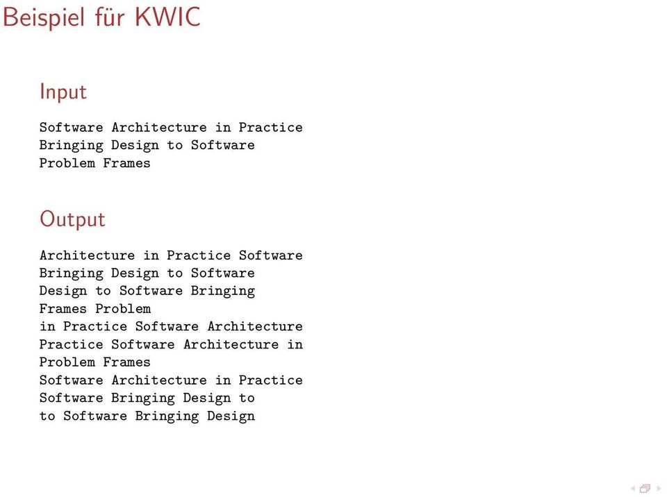 Bringing Frames Problem in Practice Software Architecture Practice Software Architecture in