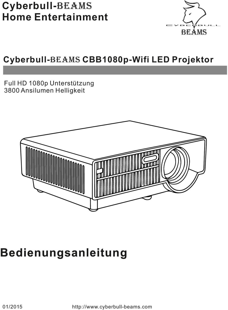 CBB1080p-Wifi LED Projektor Full
