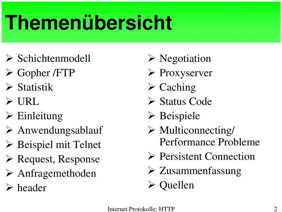 Negotiation Proxyserver Caching Status Code Beispiele Multiconnecting/